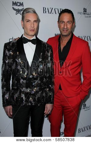 Cameron Silver, Christos Garkinos at Harper's Bazaar Celebrates The Launch Of The Dukes of Melrose, Sunset Tower, West Hollywood, CA 02-28-13