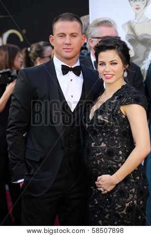 Channing Tatum, Jenna Dewan-Tatum at the 85th Annual Academy Awards Arrivals, Dolby Theater, Hollywood, CA 02-24-13
