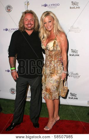 LOS ANGELES - JULY 11: Vince Neil and wife Lia at