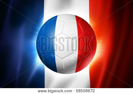 Soccer Football Ball With France Flag