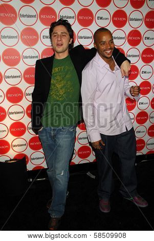 LOS ANGELES - AUGUST 26: Zach Braff and Donald Faison at the Entertainment Weekly Magazine's 4th Annual Pre-Emmy Party in Republic on August 26, 2006 in Los Angeles, CA.