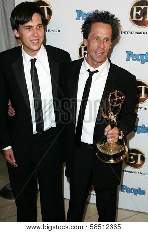 WEST HOLLYWOOD - AUGUST 27: Brian Grazer and Riley Grazer at the 10th Annual Entertainment Tonight Emmy Party Sponsored by People in Mondrian August 27, 2006 in West Hollywood, CA.