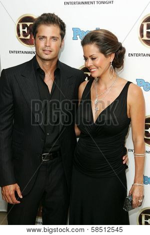 WEST HOLLYWOOD - AUGUST 27: David Charvet and Brooke Burke at the 10th Annual Entertainment Tonight Emmy Party Sponsored by People in Mondrian August 27, 2006 in West Hollywood, CA.