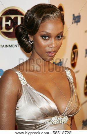 WEST HOLLYWOOD - AUGUST 27: Tyra Banks at the 10th Annual Entertainment Tonight Emmy Party Sponsored by People in Mondrian August 27, 2006 in West Hollywood, CA.