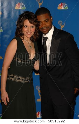 LOS ANGELES - AUGUST 27: Tina Fey and Tracy Morgan in the Press Room at the 58th Annual Primetime Emmy Awards in The Shrine Auditorium August 27, 2006 in Los Angeles, CA.