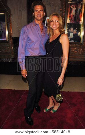 HOLLYWOOD - AUGUST 15: Lorenzo Lamas and Deborah Gibson at the Los Angeles Premiere of