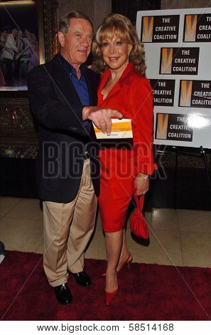 HOLLYWOOD - AUGUST 15: Barbara Eden and husband Jon at the Los Angeles Premiere of