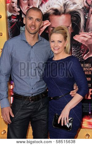 Mark Wilkerson and Melissa Joan Hart at the World Premiere of