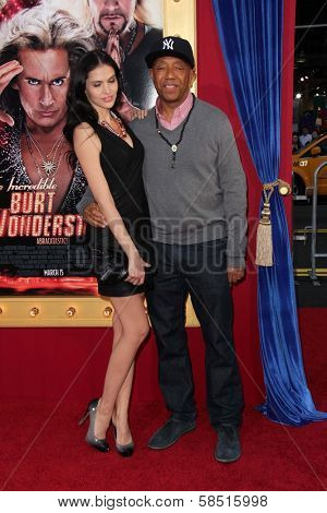 Hana Nitsche and Russell Simmons at the World Premiere of