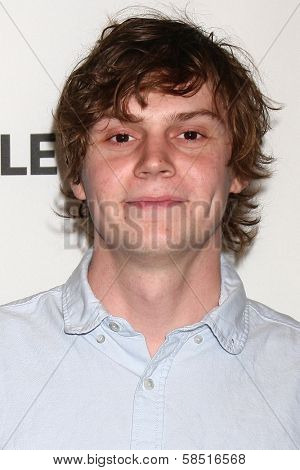 "Evans Peters at ""American Horror Story: Asylum"" at PaleyFest 2013, Saban Theater, Beverly Hills, CA 03-15-13"