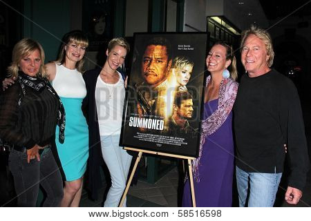 Shannon Farar-Griefer, Rena Riffel, Ashley Scott, Beth Farar and Barry Barnholtz at the premiere of
