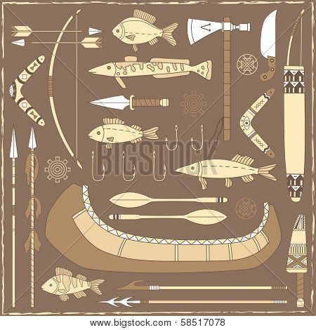 Native American Fishing Design