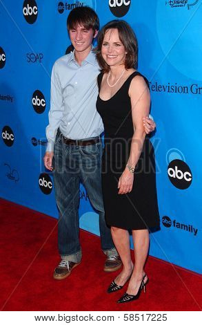 PASADENA, CA - JULY 19: Sally Field and son at the Disney ABC Television Group All Star Party on July 19, 2006 at Kidspace Children's Museum in Pasadena, CA.