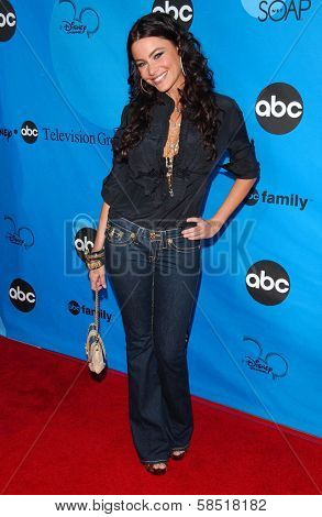 PASADENA, CA - JULY 19: Sofia Vergara at the Disney ABC Television Group All Star Party on July 19, 2006 at Kidspace Children's Museum in Pasadena, CA.