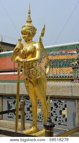 Gold Sculpture In Grand Palace, Bangkok