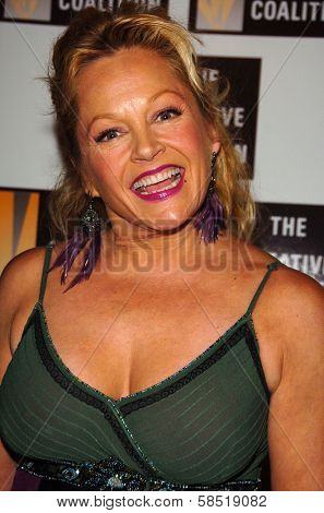 HOLLYWOOD - AUGUST 15: Charlene Tilton at the Los Angeles Premiere of Dirty Rotten Scoundrels on August 15, 2006 at Pantages Theatre in Hollywood, CA.