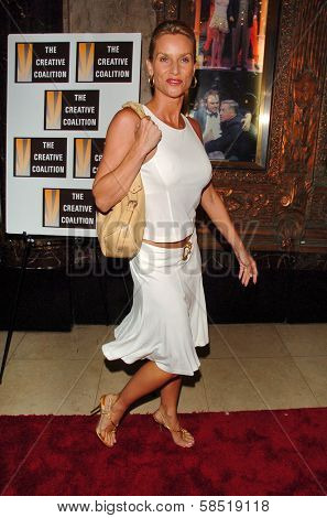 HOLLYWOOD - AUGUST 15: Nicolette Sheridan at the Los Angeles Premiere of Dirty Rotten Scoundrels on August 15, 2006 at Pantages Theatre in Hollywood, CA.