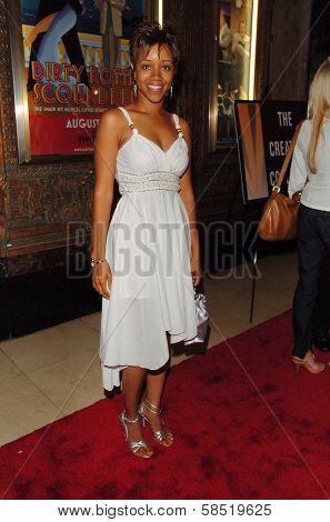 HOLLYWOOD - AUGUST 15: Chrystee Pharris at the Los Angeles Premiere of Dirty Rotten Scoundrels on August 15, 2006 at Pantages Theatre in Hollywood, CA.