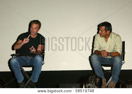 HOLLYWOOD - AUGUST 01: Michael Biehn and Leo Quinones at 97.1 Free FM's Film Freak Screening of The Terminator on August 01, 2006 at Cinespace in Hollywood, CA.