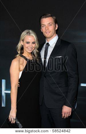 Jake Abel and Allison Wood at