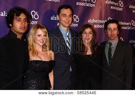 Kunal Nayyar, Melissa Rauch, Jim Parsons, Mayim Bialik, Simon Helberg  at the 21st Annual
