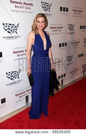 Elaine Hendrix at the 2013 Genesis Awards Benefit Gala, Beverly Hilton, Beverly Hills, CA 03-23-13