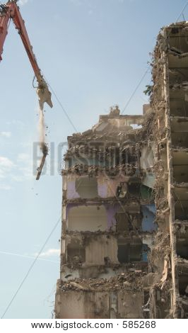 Demolition Of Tower Block