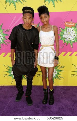 Jaden Smith, Willow Smith at Nickelodeon's 26th Annual Kids' Choice Awards, USC Galen Center, Los Angeles, CA 03-23-13