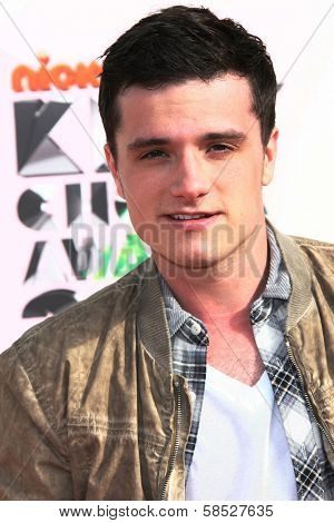 Josh Hutcherson at the 2012 Nickelodeon Kids' Choice Awards, Galen Center,  Los Angeles, CA 03-31-12