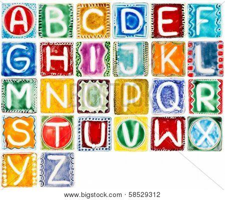 Handmade Ceramic Alphabet