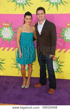 Danica Patrick, Ricky Stenhouse Jr. at Nickelodeon's 26th Annual Kids' Choice Awards, USC Galen Center, Los Angeles, CA 03-23-13