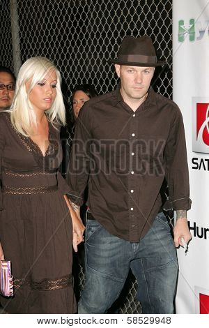 HOLLYWOOD - AUGUST 02: Fred Durst and Krista Salvatore at Saturn's X-Games 12 Party at 6820 Hollywood Blvd on August 02, 2006 in Hollywood, CA.
