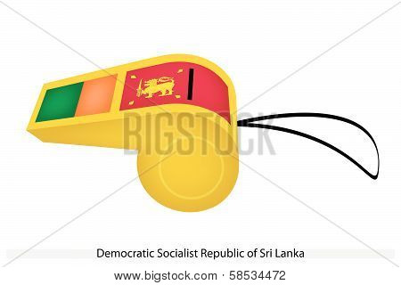 A Whistle Of Democratic Socialist Republic Of Sri Lanka