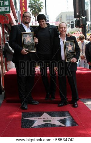 Penn Jillette, David Copperfield, Teller at Penn & Teller's induction into the Hollywood Walk Of Fame, Hollywood, CA 04-05-13