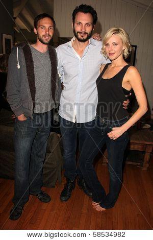 Gary Cairns, Mark Gantt, Brianne Davis on the set of