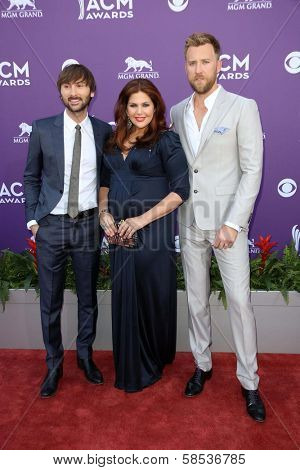 Lady Antebellum at the 48th Annual Academy Of Country Music Awards Arrivals, MGM Grand Garden Arena, Las Vegas, NV 04-07-13