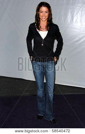 LOS ANGELES - APRIL 12: Shannon Elizabeth at the 3rd Annual Bodog Celebrity Poker Invitational at Barker Hangar on April 12, 2006 in Santa Monica, CA.