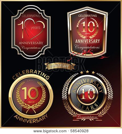 Anniversary red label, seteps
