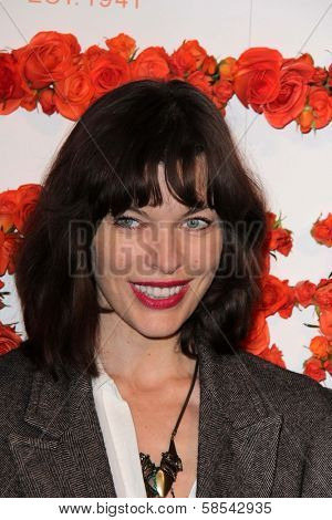 Milla Jovovich at Coach's 3rd Annual Evening of Cocktails and Shopping benefiting  the Children's Defense Fund, Bad Robot, Santa Monica, CA 04-10-13