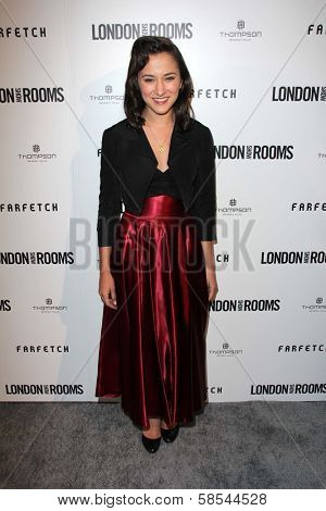 Zelda Williams at the British Fashion Council's