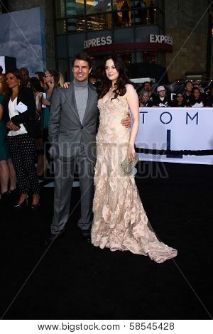 Tom Cruise, Andrea Riseborough at the