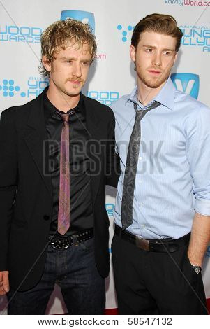 HOLLYWOOD - APRIL 30: Ben Foster and Jon Foster at Movieline's Hollywood Life 8th Annual Young Hollywood Awards at Henry Fonda Music Box Theater on April 30, 2006 in Hollywood, CA.
