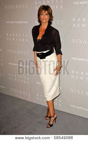 BEVERLY HILLS - APRIL 26: Lisa Rinna at the Nina Ricci Fashion Show and Gala Dinner to Benefit The Rape Foundation by Barneys New York at Barneys New York on April 26, 2006 in Beverly Hills, CA.