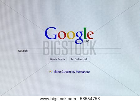 Google Home Page on a computer display