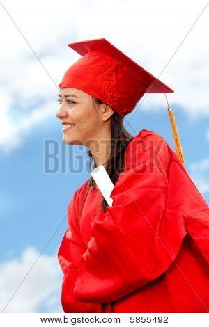 weibliche graduate portrait