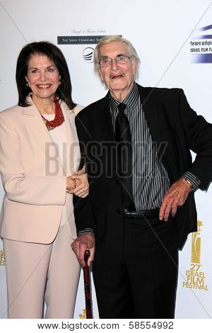 Sherry Lansing, Martin Landau at the  27th Israel Film Festival Opening Night Gala, Writers Guild Theater, Beverly Hills, CA 04-18-13