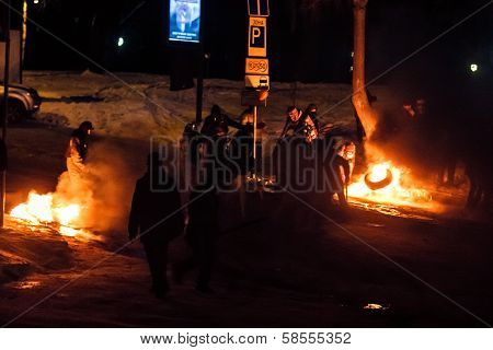Kiev (kyiv), Ukraine - January 26, 2014: Unidentified People Taking Part In Anti-goverment Protests