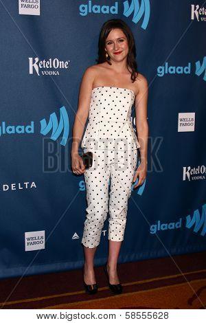Shannon Woodward at the 24th Annual GLAAD Media Awards, JW Marriott, Los Angeles, CA 04-20-13