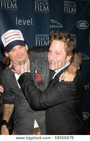 NEWPORT BEACH - APRIL 20: Sean Stewart and Randy Spelling at the 7th Annual Newport Beach Film Festival Opening Screening of