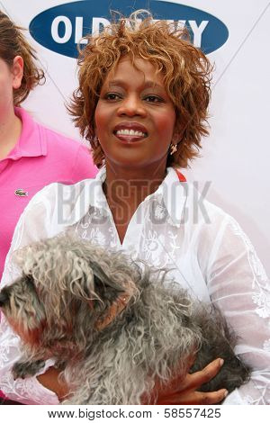 BEVERLY HILLS - APRIL 29: Alfre Woodard at the Old Navy Nationwide Search for a New Canine Mascot at Franklin Canyon Park on April 29, 2006 in Beverly Hills, CA.